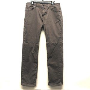 Lucky Brand 221 Straight Gray Jeans Size 34x32